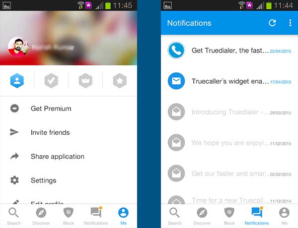 trueCaller banner by android captain