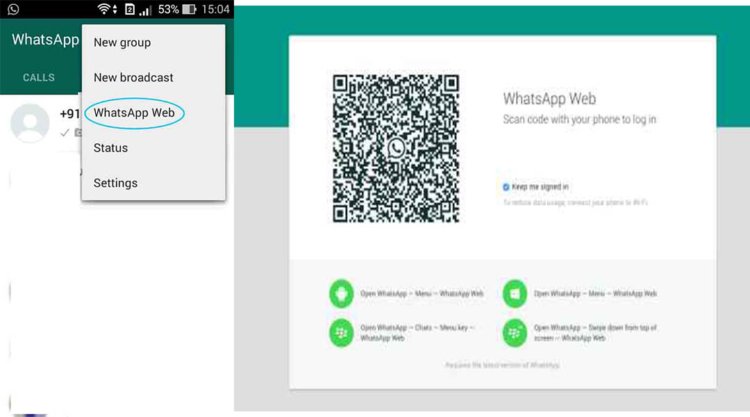Whatsapp Web Android Captain