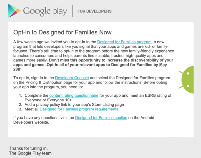 play store for families android captain